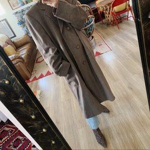 Vintage oversized cashmere duster jacket